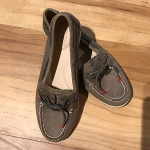 Sperry Top Sider Leather with red accent ties